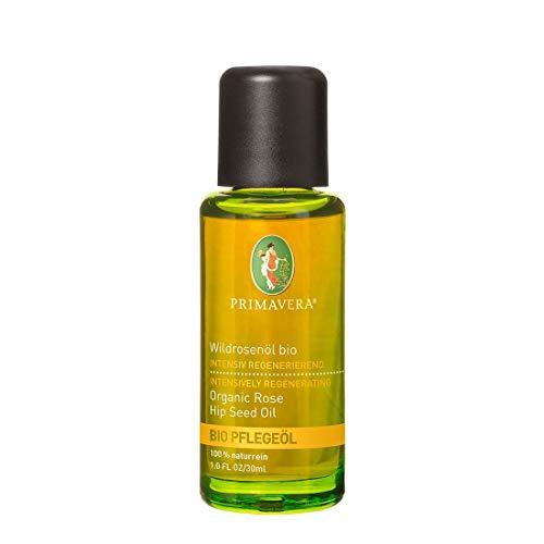 PRIMAVERA Pflegeöl Wildrosenöl bio 30 ml - Naturkosmetik, Pflanzenöl, Hautöl - nährend, regenerierend für müde, anspruchsvolle Haut - vegan