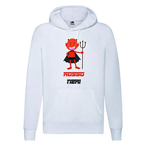 Diavolo Milano Sweatshirt für Herren und Damen, Fußballfans Größe M (auf Anfrage Größen S M L XL XXL - Senden Sie eine Nachricht nach der Bestellung - siehe Tabelle