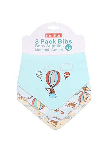 Enfant Bébé Bandana Dribble Bavettes avec Boutons De Presse Coton 0-3 Ans Pack De 6Pieces Pack,Traveler