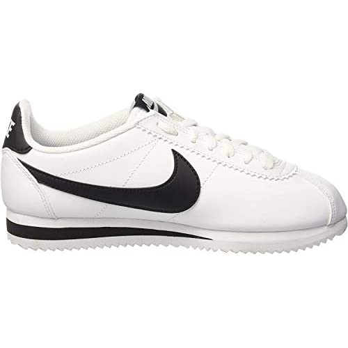 Nike Wmns Classic Cortez Leather, Scarpe Running Donna, Bianco (White/Black/White 101), 35 EU