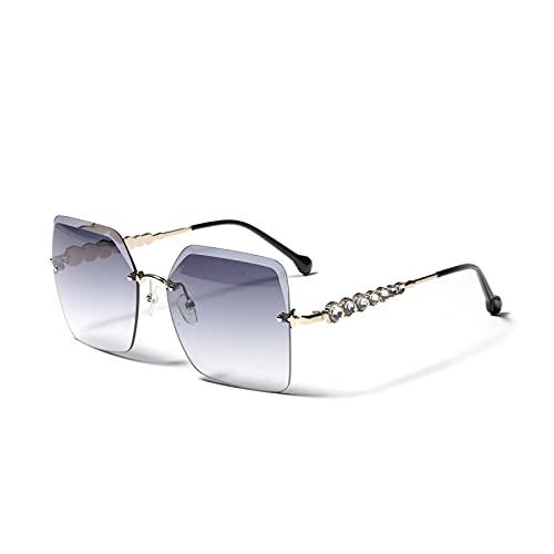 HAOMAO Gafas de sol cuadradas de conducción fotocromáticas con gradiente de espejo Uv400 sin montura vintage para mujeres y hombres 4
