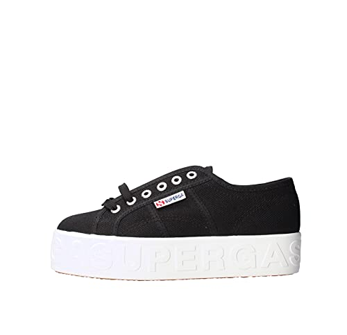 SUPERGA 2790 Cotw Lettering 3D Schuh 2021 Black, 40