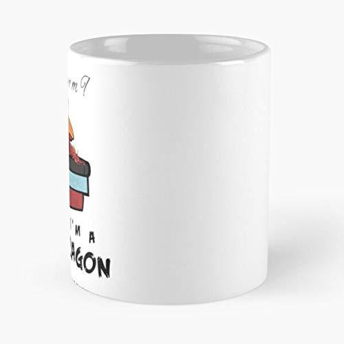 Book Bookworm Fandom Geek Booknerd Dragon Nerd Best 11 Ounce Ceramic Coffee Mug Best - Taza de café (350 ml), diseño de Nespresso