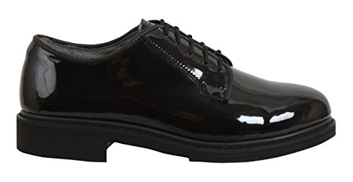 Rothco Uniform Hi-Gloss Oxford Dress Shoe, 9.5, Regular