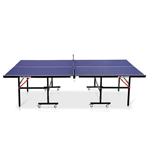 MaxKare Folding Table Tennis Table Standard Size 9'x5' Ping Pong Table with Net Set Easy Assembly