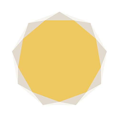 Vloerkleed, rond, geometrisch, modern, cirkel Diameter:3'11''(120cm) D