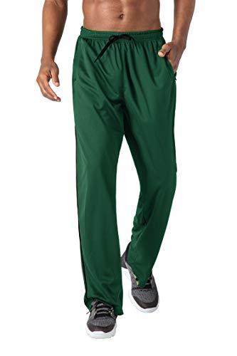 KEFITEVD Pantalon de Jogging pour Hommes Pantalon de Sport en Maille Mince Pantalon de Basket-Ball de Gymnastique Léger, Vert, 2XL