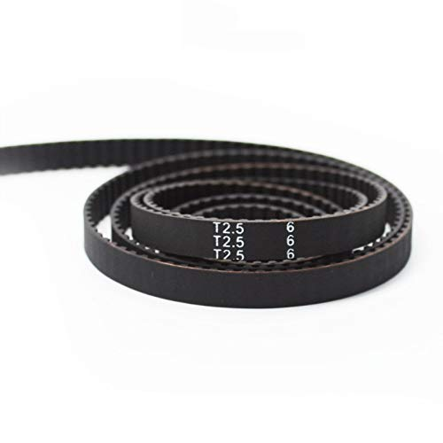 5 Meters T2.5 Timing Belt - 2.5mm Pitch, 6mm Width - Open Loop Cogged Gear Rubber Synchronous Pulley Belt for Reprap Mendel Prusa 3D Printer Part