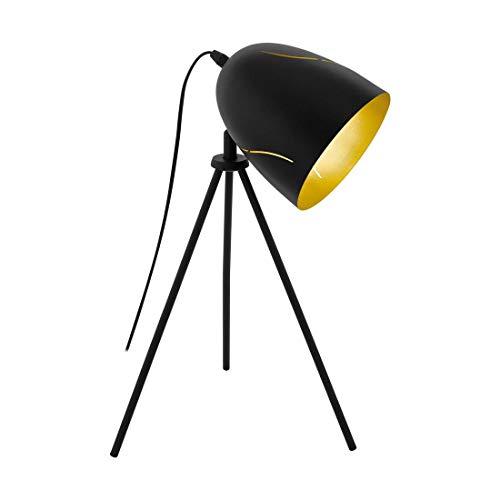 EGLO tafellamp, zwart, goud