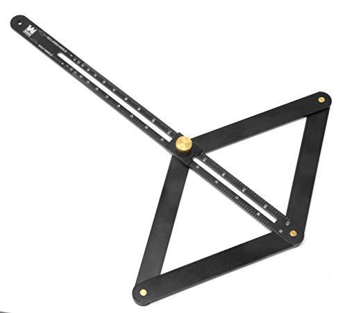 WEN ME360P Aluminum Miter Saw Bevel Gauge and Corner Angle Finder for Woodworking