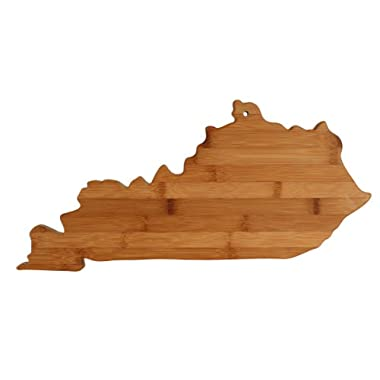 Totally Bamboo State Cutting & Serving Board, Kentucky, Made From 100% Organic Bamboo; Extremely Strong & Durable; Multi Functional Bamboo Cutting board for Cooking, Entertaining, Decor and More