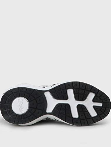 Buffalo Damen Sneaker CAI, Frauen Low-Top Sneaker, Freizeit leger Halbschuh strassenschuh schnürer schnürschuh sportschuh Lady,Silver,41 EU / 7 UK