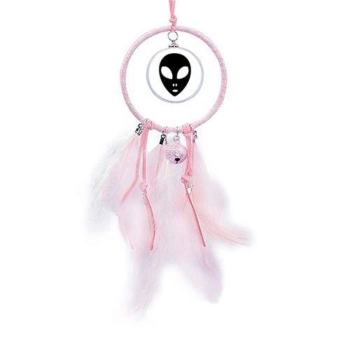 Beauty Gift Universe Alien Monster Head Retrato Atrapasueños Pequeña Campana Decoración Dormitorio