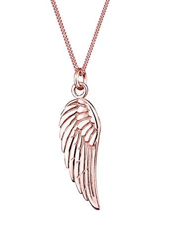 Elli Damen-Kette mit Anhänger Flügel 925 Sterling Silber 0110720914_45 - 45cm Länge