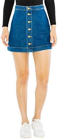 A line jean skirt _image0