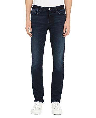 Calvin Klein Men Skinny Fit Jeans, Boston Blue/Black, 40W x 30L