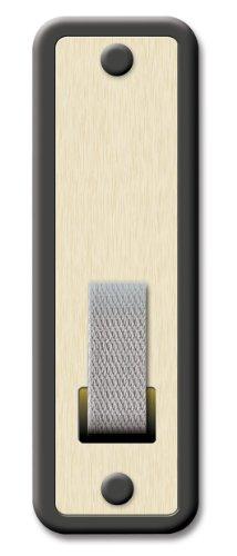 Schellenberg 53408 Placca avvolgibili SOFTLINE Maxi: 23 mm di Larghezza del Nastro, Piastra tapparella con spaziatura dei Fori 16 cm, Oro-Marrone