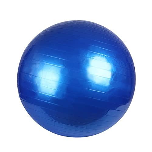 Tree-es-Life Pelota de Yoga Pilates PVC a Prueba de explosiones Fitball para Ejercicios de Estabilidad Entrenamiento Gimnasio Pelota Antideslizante y Antideslizante Pelota de Pilates Azul 55cm