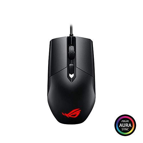 ASUS ROG Strix Impact Mouse Gaming Ottico per MOBA, Ambidestro, Interruttori Omron, Aura SYNC RGB