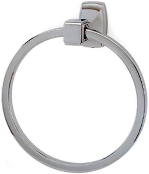 Alno Creations Cube Collection 6 Diameter Towel Ring A6540 Pn Polished Nickel