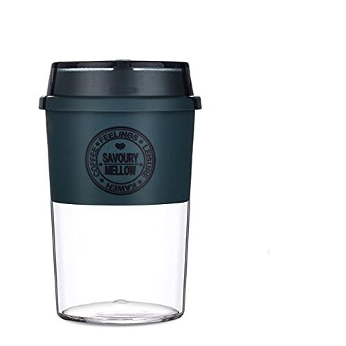 GHJGHJ 300 ml / 400 ml Material de tritano Botella de Agua Taza de café a Prueba de Fugas Anti-Scalding Coffee Tea Bebidas Botellas BPA Libre (Color : 300ml Blue)