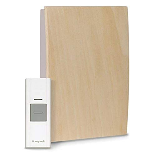 Honeywell Home RCWL3505A1005/N RCWL3505A 1005/N Decor Customizable Wood Wireless Doorbell/Door Chime and Push Button, Medium, BurlyWood