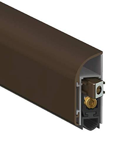 Paraspifferi COMAX sovrapposto a DOPPIA REGOLAZIONE per porte in legno colore MARRONE regolabile COMAGLIO Modello 1750MA93 lunghezza regolabile da un minimo di 83 cm. ad un massimo di cm.93