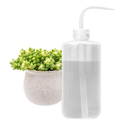 Bewässerung Flasche 500 ml mit auslaufsicherem O-Ring für Zimmerpflanzen Sukkulente Kaktus Kunststoff Squeeze Wasser kann Bonsai Terrarium Orchideen Sämling Lab Wash Label Tattoo Gerät