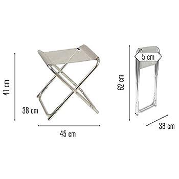 Lafuma Tabouret de camping pliant, Alu PL, Batyline, Couleur: Seigle, LFM1443-2178