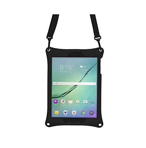 Cooper Bounce Strap [Rugged Silicon Carry Case] for Samsung Galaxy Tab S3 9.7 | Shock Proof Heavy Duty Cover | SM-T820 T825 (Black)