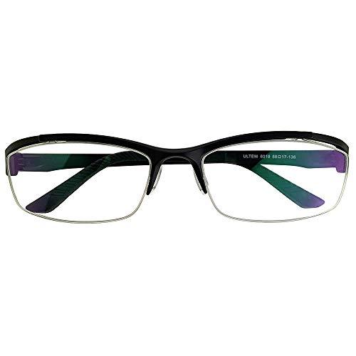 SHOWA 遠近両用メガネ Dimanni (マットブラック) (メンズセット) 全額返金保証 境目のない 遠近両用 眼鏡 老眼鏡 おしゃれ メンズ 男性 リーディンググラス (瞳孔間距離:63mm〜65mm, 近くを見る度数:+3.0)