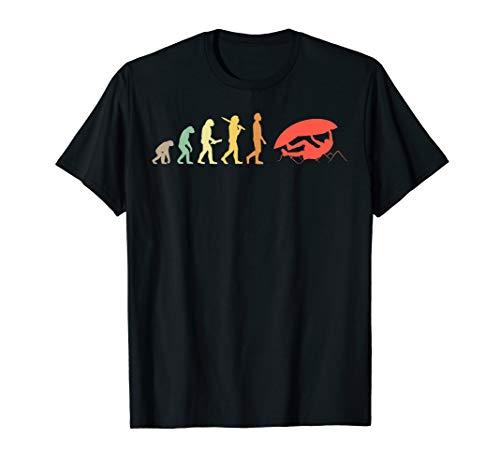 Retro Klettern Evolution Geschenk für Kletterer & Boulderer T-Shirt