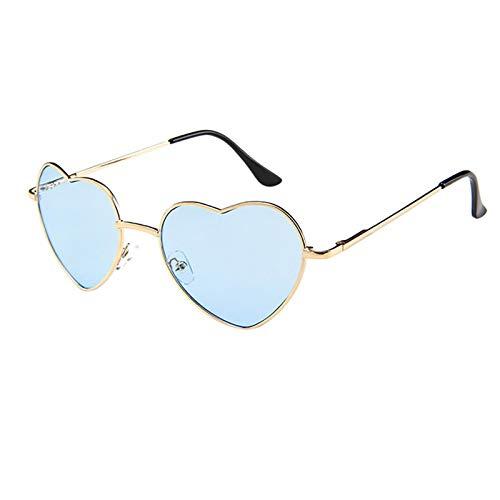 Keepwin Gafas de Sol Corazón Polarizadas para Hombre y Mujer Estilo Retro Clásico Unisex Adulto Protección UV400 para Conducción al Aire Libre Pesca Ciclismo
