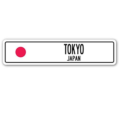 SignMission Tokio, Japan Straßenschild Japanische Flagge City Country Road Wand Geschenk