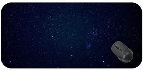 Juego extendido Almohadilla de ratón Grande, Cielo Estrellado Cosmos Radiance Brilliance Alfombrilla de ratón con Borde Cosido