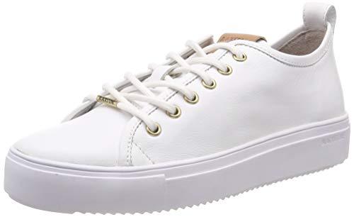 Blackstone Damen PL97 Hohe Sneaker, Weiß (White Whit), 40 EU