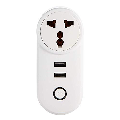 Smart Plug, zócalo remoto inalámbrico interruptor de control de temporizador hogar del enchufe de teléfono inteligente de control de socket Wi-Fi inteligente de sincronización de inicio Cambiar Socket