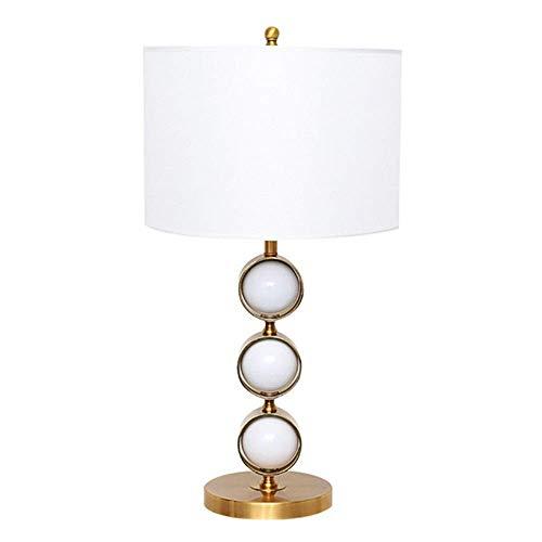 Allamp Norte de Europa Oro Oro Cuerpo nórdica Modern bola blanca lámpara de mesa de la sala dormitorio de noche Escritorio restaurante Tela lámpara de mesa cubierta de la lámpara 35x35x68cm Clásico No