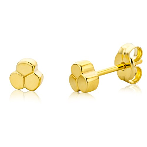 Miore Children's 9ct Yellow Gold Flower Stud Earrings MK9016E