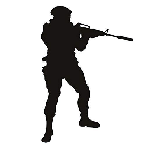 wandaufkleber küche kaffee Soldat Shooting Silhouette Coole Aufkleber Schlafzimmer Armee Menschen und Gesichter Junge