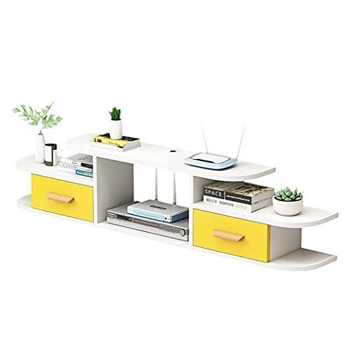Mueble de TV Mesa Flotante,Estante Flotante para Componentes Soporte TV,Estante Almacenamiento Fondo Pared Multifuncional para Sala Estar Apartamentos PequeñOs/A / 120cm