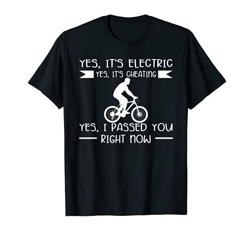 Sí, es eléctrico, sí, está engañando a E-Bike. Camiseta