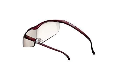 Hazuki ハズキルーペ 直営店 公式店 限定 倍率交換保証付き ラージ 1.6倍 カラーレンズ 赤 ハズキ 拡大鏡 ルーペ メガネ型 眼鏡型 めがね型 メガネ 眼鏡 めがね 日本製 MADE IN JAPAN ギフト