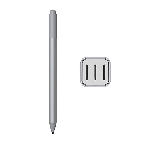 Microsoft Surface Pen for Surface Pro 7 Pro 6 Surface Laptop 3 Surface Book 2 Laptop 2 Surface Go Studio 2 4096 Pressure Points Rubber Eraser Bluetooth Platinum w/3 Extra Surface Pen Tips HB