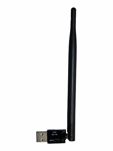 Xoro HWL 155N WLAN USB Antenne für Xoro SMART Receiver / Windows 10 / Linux / Raspberry Pi, Schwarz