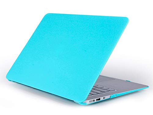 4-in-1 Matte Hard Shell Case + Keyboard Cover + Screen Protector + Dust Plug for MacBook Air 11 13 Pro Retina 12 13 15 TouchBar-Matte White Blue-New Pro13 inch A1708