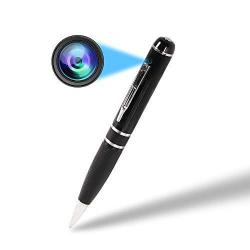 Cámaras Espía Pen Mini cámara espía, VSYSTO Full HD 1080P WiFi Lápiz de Cámara Portátil Cámara Oculta con Tarjeta de 32 GB, para la Oficina, Casa y Al Aire Libre