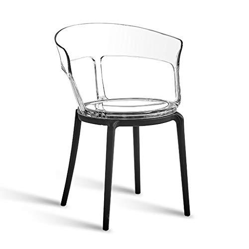 Shi xiang shop Silla Transparente Creativa, Silla de Comedor de plástico, sillas de Patio, Silla de Acento Resistente, Silla de salón for Restaurante, cafetería, Hotel o al Aire Libre (Color :