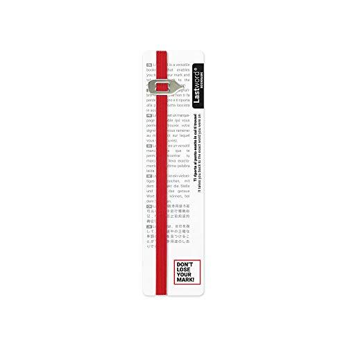 Lastword lesezeichen, bookmark - lesezeichen kinder - geschenk für frauen, geschenk für männer, geschenk für freundin - elastisches Lesezeichen für alle Bücher – DESIGN MADE IN ITALY (Rot)