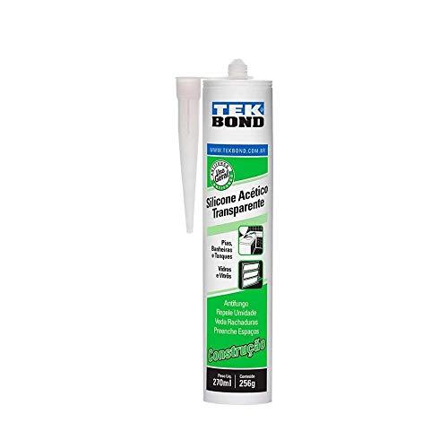 Adesivo de Silicone Acético Construção, Tekbond, 220.3400.2100, 256 Gramas/270 ML Transparente